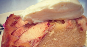Italian Apple Cake with Orange Syrup & Cointreau Mascarpone