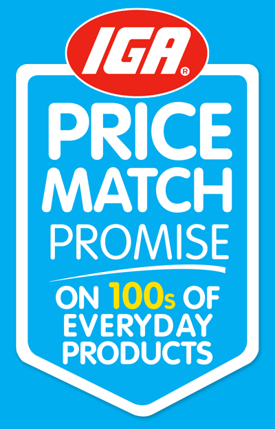 IGA Price Match Shield