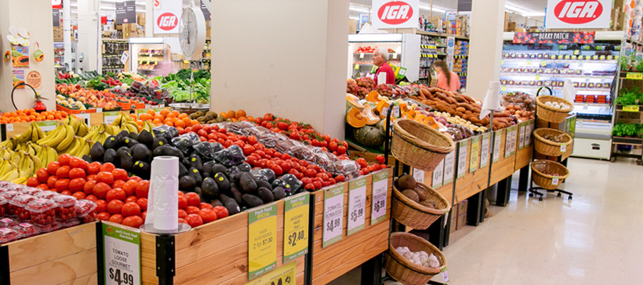Produce section of IGA Turramurra