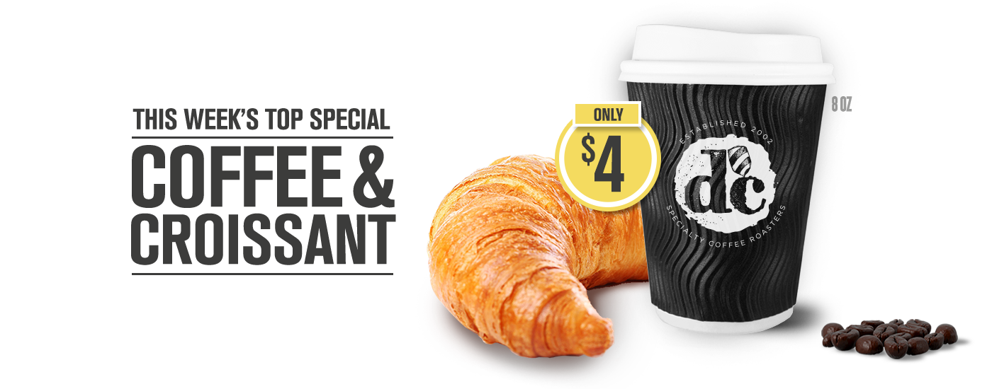 This week's top special coffee and croissant website