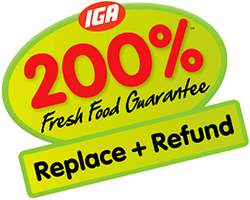 IGA 200% Fresh Guarantee